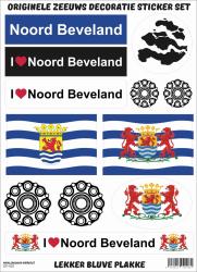 Stickervel Noord Beveland