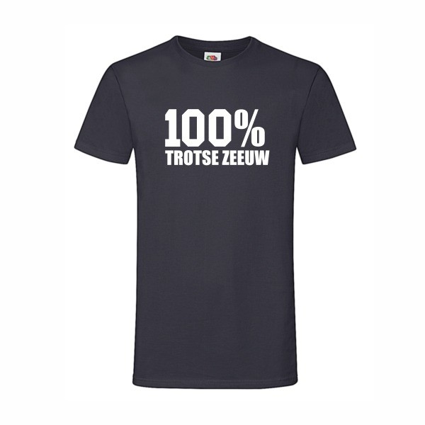 100% trotse zeeuw navy blauw