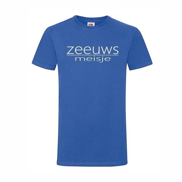 t-shirt zeeuws meisje blauw