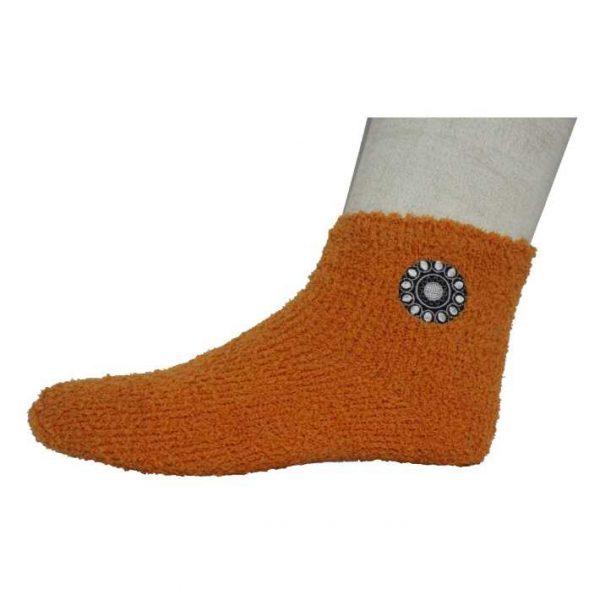 Zeeuwse knop sokken dames oranje