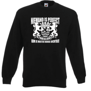 Sweater niemand is perfect maar als Zeeuw