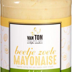 Beetje zoete mayonaise van ton