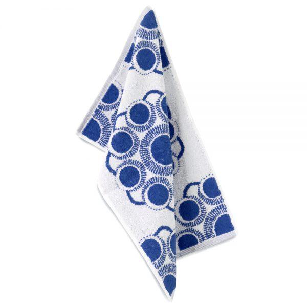 Gastendoekje Zeeuwse knop wit-blauw