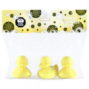Gastenzeep badeendjes geel 3 stuks
