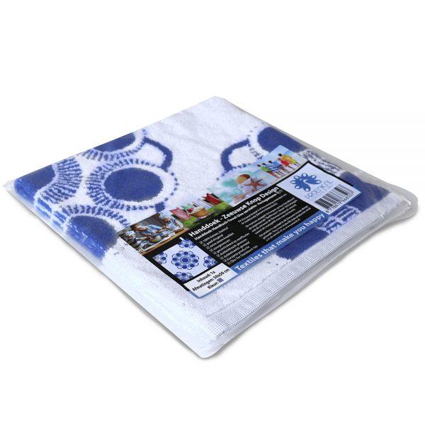 Zeeuwse knop keuken en handdoek wit blauw foto 3