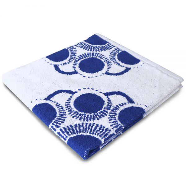 Zeeuwse knop keuken en handdoek wit blauw foto 2