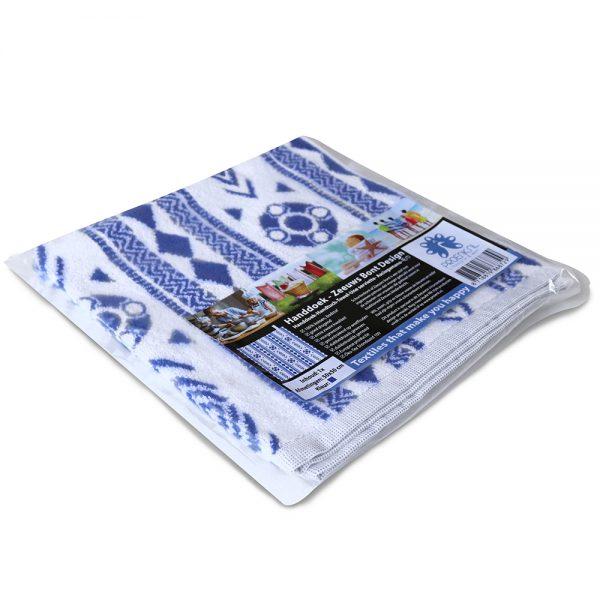 Zeeuws schortenbont keuken en handdoek wit blauw foto 3