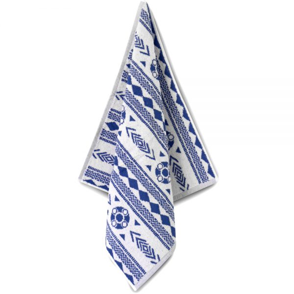 Zeeuws schortenbont keuken en handdoek wit blauw