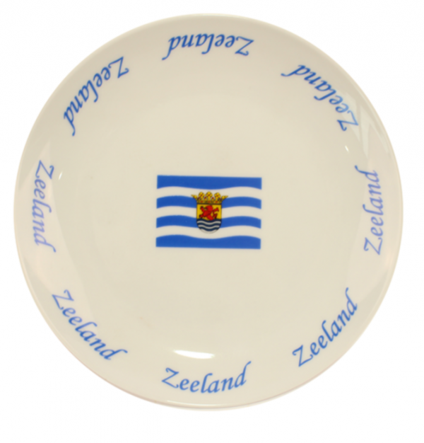 Ontbijtbordje vlag zeeland
