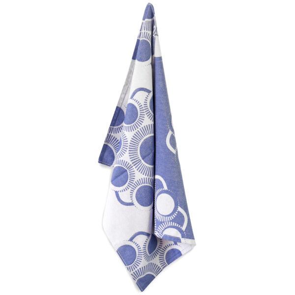 Theedoek Zeeuwse knop Blauw/wit