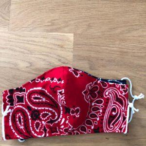 Zeeuws mondkapje rood design