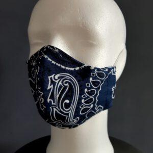 Zeeuws mondkapje blauw zakdoek
