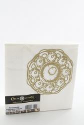 servetten met Zeeuwse knop wit goud