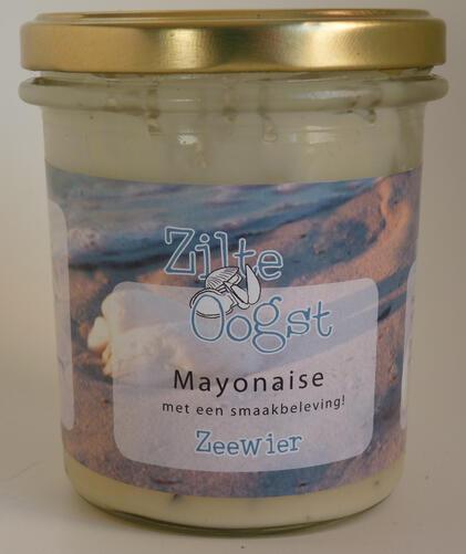 Zilte oogst zeewier mayonaise