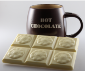 Zeeuwse knop chocoladereep wit