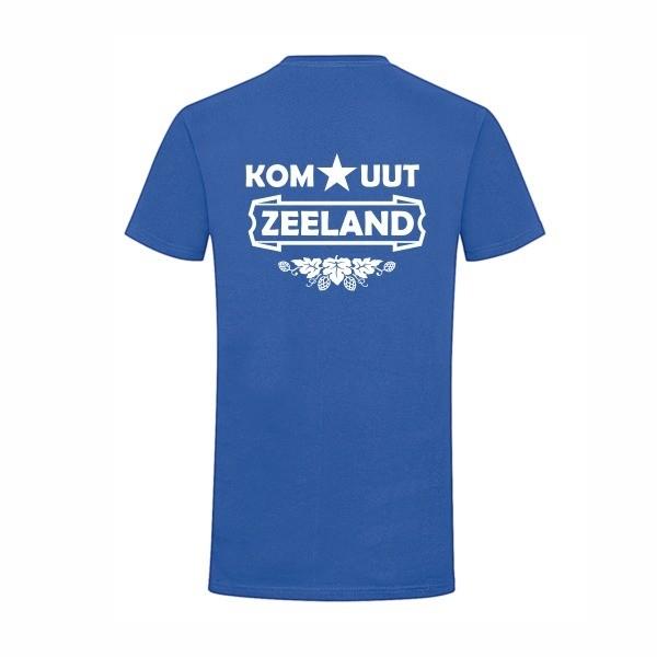 Kom uut zeeland korenblauw t-shirt