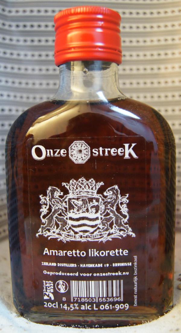 Onze streek amaretto likorette