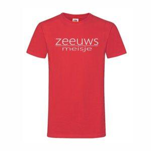 T-shirt Zeeuws meisje rood