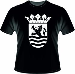 T shirt wapen van Zeeland groot