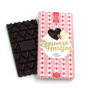Zeeuwse hartjes chocoladereep gently dark