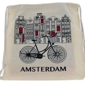 Katoenen stevige tas amsterdam en fietsen
