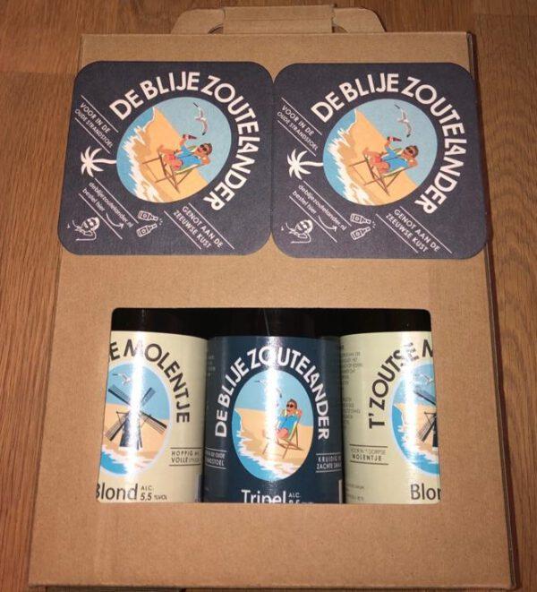 De Blije Zoutelander bierpakket met 3 flesjes